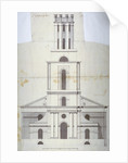 Front elevation of the Church of St George in the East, Stepney, London by Anonymous