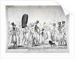 Monstrosities of 1821 by George Cruikshank