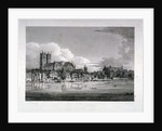 Westminster Abbey from the River Thames, London by