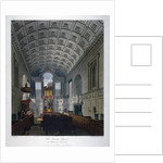 Interior view of the Chapel Royal in St James's Palace, Westminster, London by