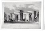 View of Hyde Park Corner, London by W Wallis