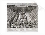The Trial of Thomas Wentworth, Earl of Strafford, Westminster Hall, London by Wenceslaus Hollar