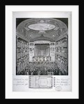 Interior view of the Haymarket Theatre, London, on its opening night in 1821 by James Stow