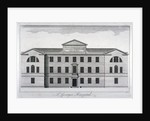 Front elevation of St George's Hospital, Hyde Park Corner, Westminster, London, c1740 by