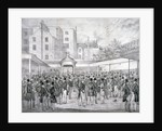 View of Tattersall's horse sale yard at Hyde Park Corner, Westminster, London by