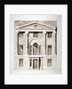 Front elevation of the Society of Arts building in John Adam Street, Westminster, London by Anonymous