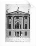 Front elevation of the Society of Arts building in John Adam Street, Westminster, London by Isaac Taylor