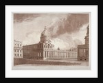 View of the fire at Greenwich Hospital, London, on the morning of 2nd January by E Edye