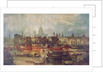 The Lord Mayor's procession by water to Westminster, London by Anonymous