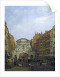 Temple Bar from the Strand by William Henry Haines