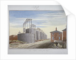 View of gas works in Pocock Street, Southwark, London by G Yates