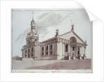 South-east view of the Church of St Alfege, Greenwich, London by Anonymous