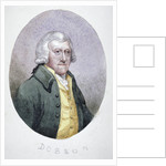 Mr Dobson, a tradesman of Fleet Street, wearing a wig, coat and waistcoat by Anonymous