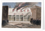 Fire at the Olympic Theatre, Wych Street, Westminster, London by J Maund