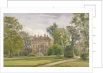 Garden front of Wandsworth Manor House, St John's Hill, Wandsworth, London by John Crowther