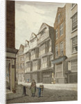 South-west view of an old timber-framed house in Ship Yard, Westminster, London by