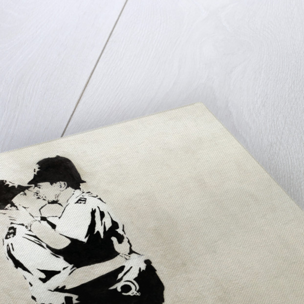Kissing Coppers by Banksy