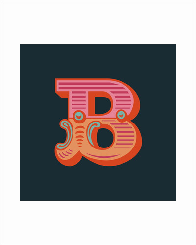 Letter B (Dark background) by Magnolia Box
