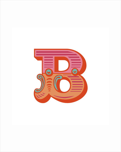 Letter B (White background) by Magnolia Box