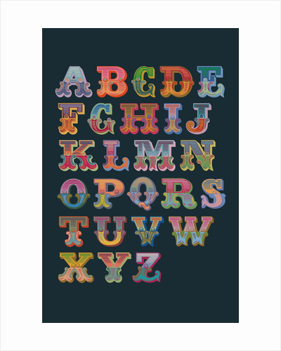 Alphabet (Dark background) by Magnolia Box