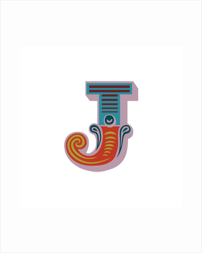 Letter J (White background) by Magnolia Box