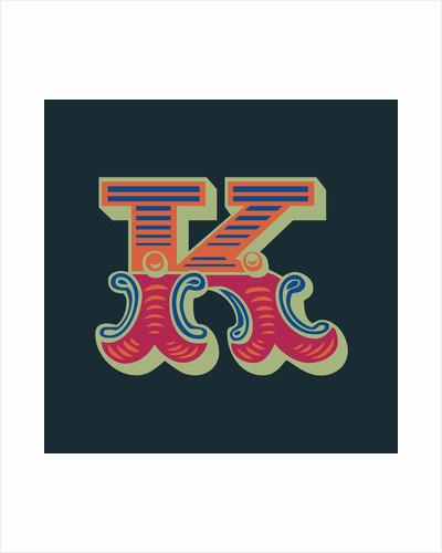 Letter K (Dark background) by Magnolia Box