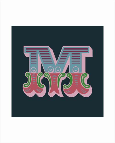 Letter M (Dark background) by Magnolia Box