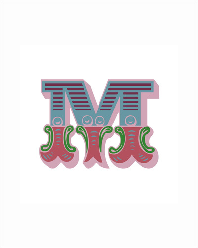 Letter M (White background) by Magnolia Box