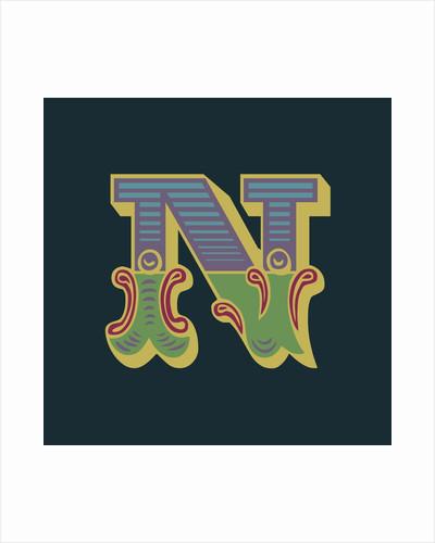 Letter N (Dark background) by Magnolia Box