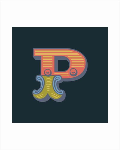 Letter P (Dark background) by Magnolia Box