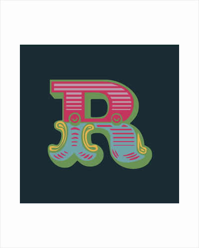 Letter R (Dark background) by Magnolia Box