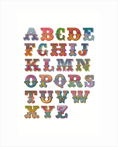 Alphabet (White background) by Magnolia Box