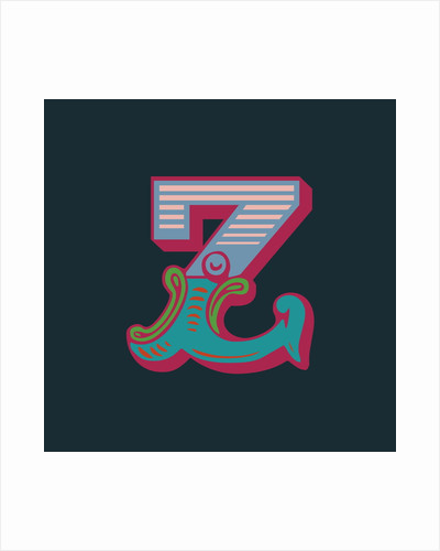 Letter Z (Dark background) by Magnolia Box