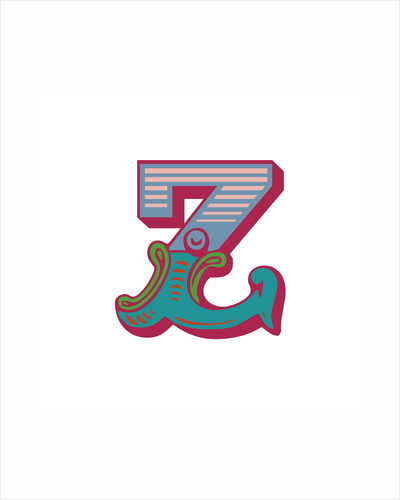 Letter Z (White background) by Magnolia Box