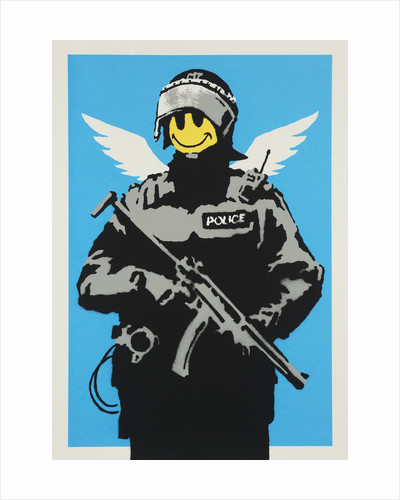 Smiley Riot Cop by Banksy