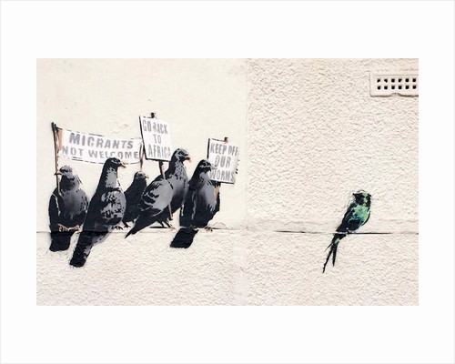 Immigration Birds by Banksy