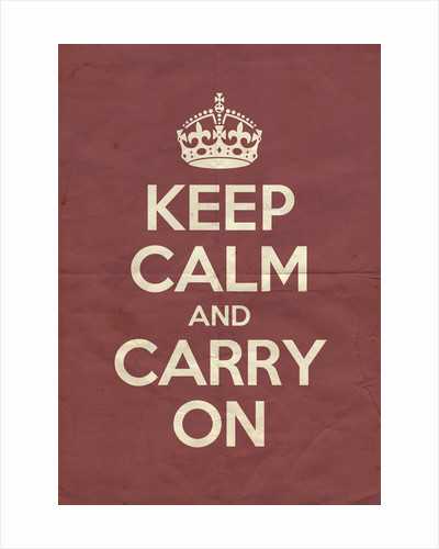 Keep Calm And Carry On Poster in Radicchio Vintage by Magnolia Box