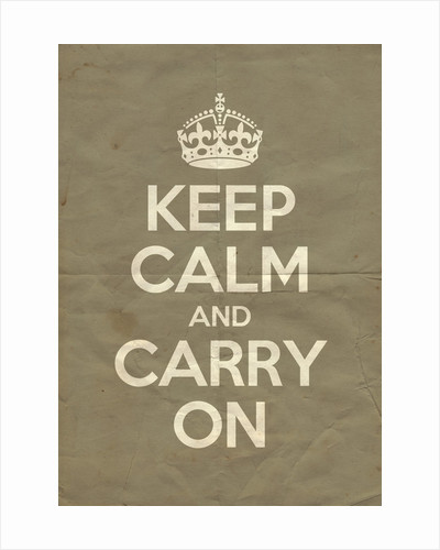 Keep Calm And Carry On Poster in Mouses Back Vintage by Magnolia Box