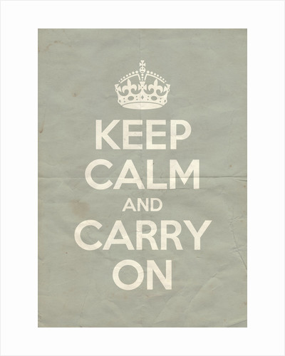 Keep Calm And Carry On Poster in Skylight Vintage by Magnolia Box