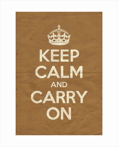 Keep Calm And Carry On Poster in Sand Vintage by Magnolia Box