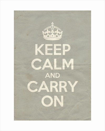 Keep Calm And Carry On Poster in Lamp Room Gray Vintage by Magnolia Box