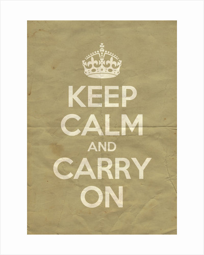 Keep Calm And Carry On Poster in Light Stone Vintage by Magnolia Box