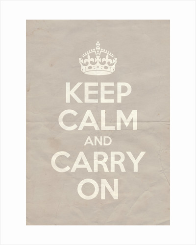 Keep Calm And Carry On Poster in Great White Vintage by Magnolia Box