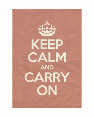 Keep Calm And Carry On Poster in Red Earth Vintage by Magnolia Box