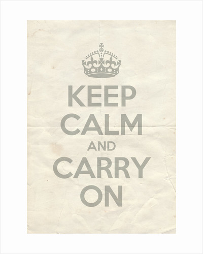 Keep Calm And Carry On Poster in Lamp Room Gray Vintage Reversed by Magnolia Box