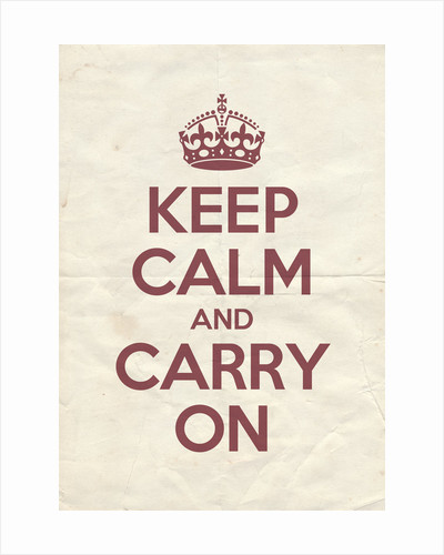 Keep Calm And Carry On Poster in Radicchio Vintage Reversed by Magnolia Box
