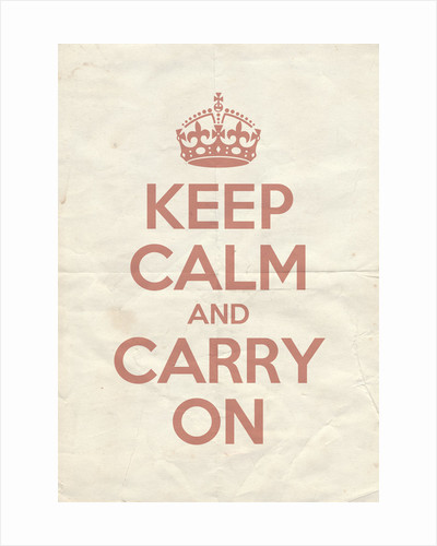 Keep Calm And Carry On Poster in Red Earth Vintage Reversed by Magnolia Box