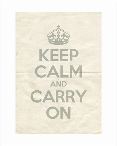 Keep Calm And Carry On Poster in Skylight Vintage Reversed by Magnolia Box