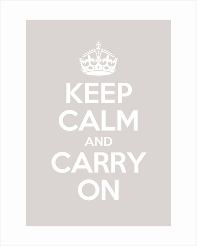 Keep Calm And Carry On Poster in Great White by Magnolia Box