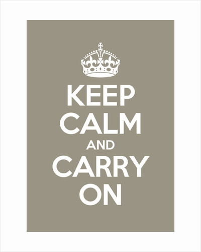 Keep Calm And Carry On Poster in Mouses Back by Magnolia Box